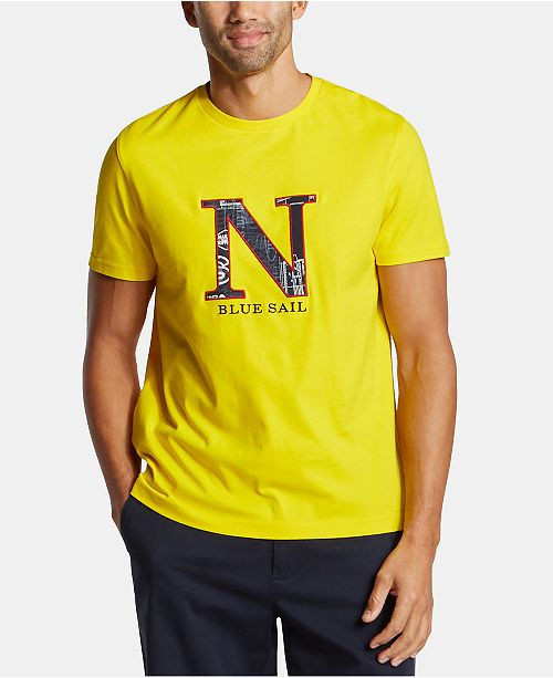 Nautica Nautica Men's Big & Tall Blue Sail Icon Embroidered Logo Graphic T-Shirt, Created for Macy's