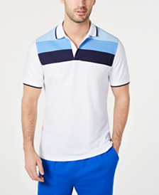 Club Room Men's Regular-Fit Stripe Polo, Created for Macy's