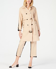 Marella Colorblocked Trench Coat