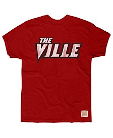 Retro Brand Men's Louisville Cardinals Cotton The Ville T-Shirt