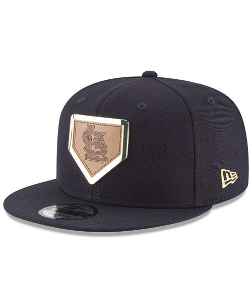 buy online f1f98 969b7 ... New Era St. Louis Cardinals Framed Leather 9FIFTY Snapback Cap ...
