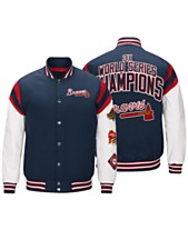 G-III Sports Men's Atlanta Braves Home Team Commemorative Varsity Jacket