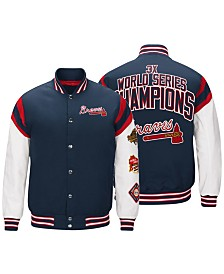 G-III Sports Men's Atlanta Braves Home Team Commemorative Varsity Jacket