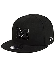 Michigan Wolverines Black White Fashion 9FIFTY Snapback Cap