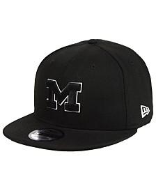 New Era Michigan Wolverines Black White Fashion 9FIFTY Snapback Cap