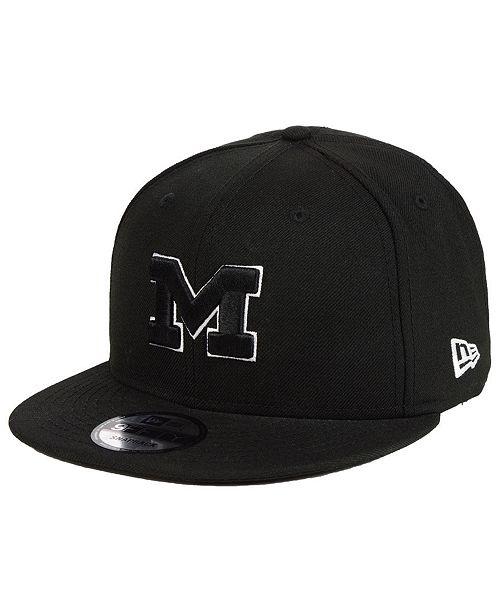 356e4689aff ... New Era Michigan Wolverines Black White Fashion 9FIFTY Snapback Cap ...