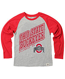 Wes & Willy Ohio State Buckeyes Heather Raglan T-Shirt, Toddler Boys (2T-4T)