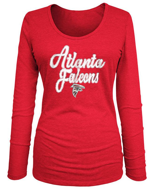 5th & Ocean Women's Atlanta Falcons Long Sleeve Triblend Foil T-Shirt