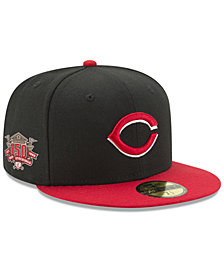 New Era Cincinnati Reds Authentic Collection Anniversary Patch 59FIFTY Fitted Cap