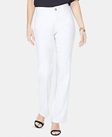 Tummy-Control Slim-Leg Trousers