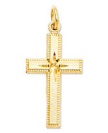 14k Gold Charm, Cross Charm
