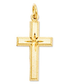 14k Gold Charm, Cross Charm