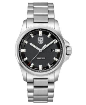 Men's 1832 Dress Field Stainless Black Dial Bracelet Watch