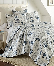 Home Beach Life Twin Quilt Set