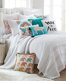 Home Casita White Full/Queen Quilt Set