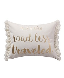 Home Spruce Coral Road Less Traveled Pillow