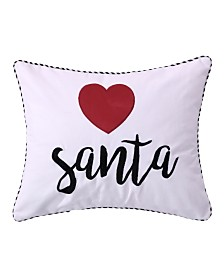 Levtex Home Rudolph Heart Santa Pillow