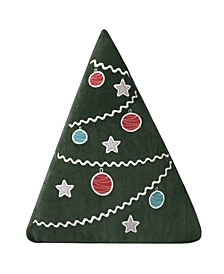 Home Santa Claus Lane Xmas Tree Pillow