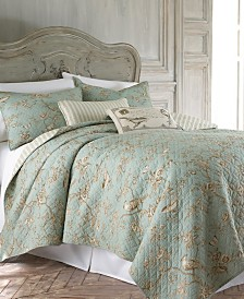 Levtex Home Lyon Teal King Quilt Set with King Shams