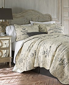 Home Histoire Gray Full/Queen Quilt Set