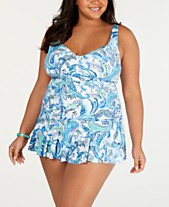 355e794544c13 Lauren Ralph Lauren Plus Size Fiesta Paisley Printed Skirted Swimdress