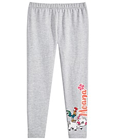 Little Girls Moana Graphic-Print Leggings