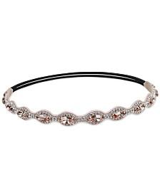 Deepa Silver-Tone Crystal Stretch Headband