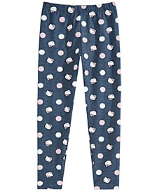 Little Girls Dot-Print Leggings