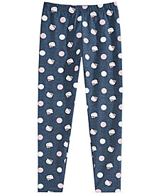 Hello Kitty Little Girls Dot-Print Leggings