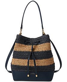 Lauren Ralph Lauren Dryden Debby Straw Drawstring Bag