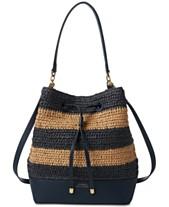 8763a31ef69e Lauren Ralph Lauren Dryden Debby Straw Drawstring Bag