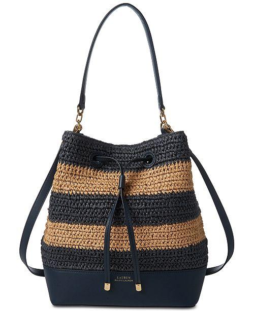 074cd0c4e861 Lauren Ralph Lauren Dryden Debby Straw Drawstring Bag & Reviews ...