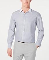 3bbca5ef074 Tasso Elba Men s Classic Regular Fit Non-Iron Supima Cotton Twill Bar  Stripe French
