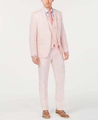 Men's Slim-Fit Linen Pink Suit Jacket, Created for Macy's