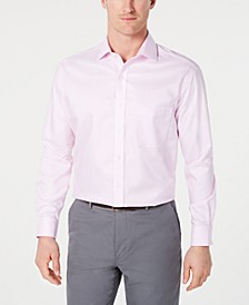 Men's Classic/Regular-Fit Non-Iron Mini-Herringbone Supima Cotton Dress Shirt, Created for Macy's
