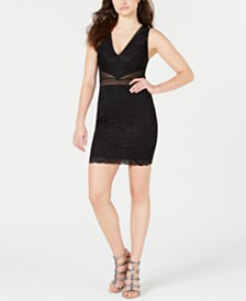 GUESS Brelee Lace Illusion Bodycon Dress