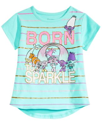 03de96196 Trolls by DreamWorks Little Girls Graphic-Print T-Shirt & Reviews - Shirts  & Tees - Kids - Macy's