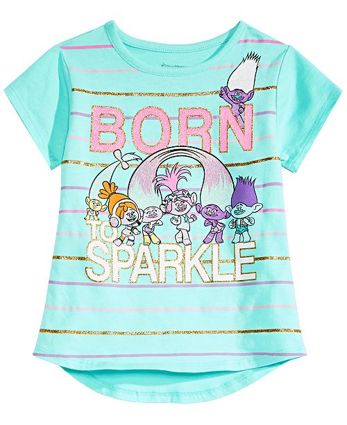 553d6d3cf Trolls by DreamWorks Little Girls Graphic-Print T-Shirt & Reviews ...