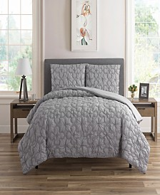 Textured Floral 3 Piece Quilt Sets