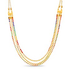 Steve Madden Rainbow Layered Chain Necklace