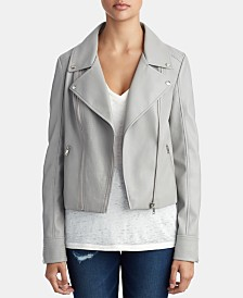 True Religion Faux-Leather Moto Jacket