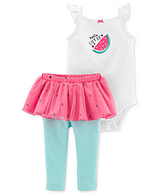 Carter's Baby Girls Watermelon Graphic Bodysuit & Tutu Pants