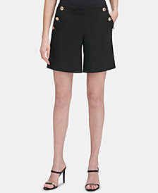 Calvin Klein Embossed-Button Shorts