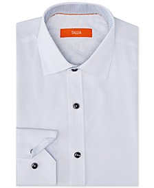 Men's Slim-Fit Non-Iron Performance Stretch Solid Dress Shirt