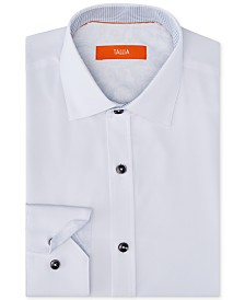 Tallia Men's Slim-Fit Non-Iron Performance Stretch Solid Dress Shirt