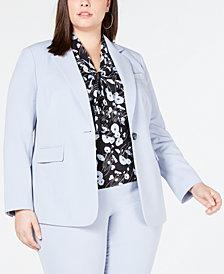 Bar III Plus Size Single-Button Blazer, Created for Macy's