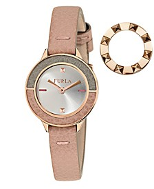 Women's Club White Dial Calfskin Leather Watch