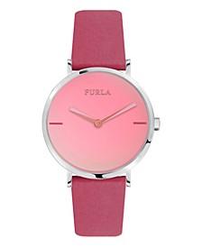 Women's Giada White Dial Calfskin Leather Watch