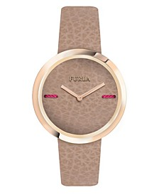 Women's My Piper Brown Dial Calfskin Leather Watch