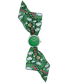 Furla Women's Giada Bandeau Green Dial Silk Watch